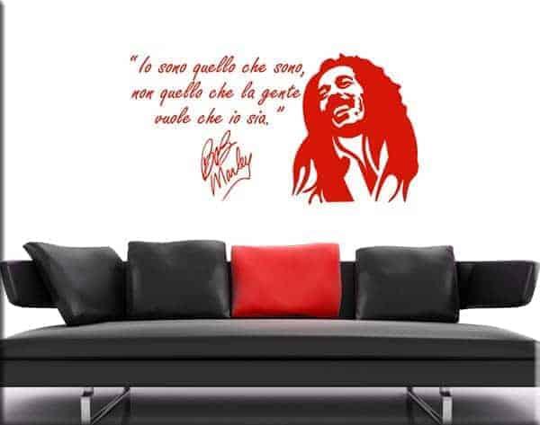 decorazione murale Bob Marley frase