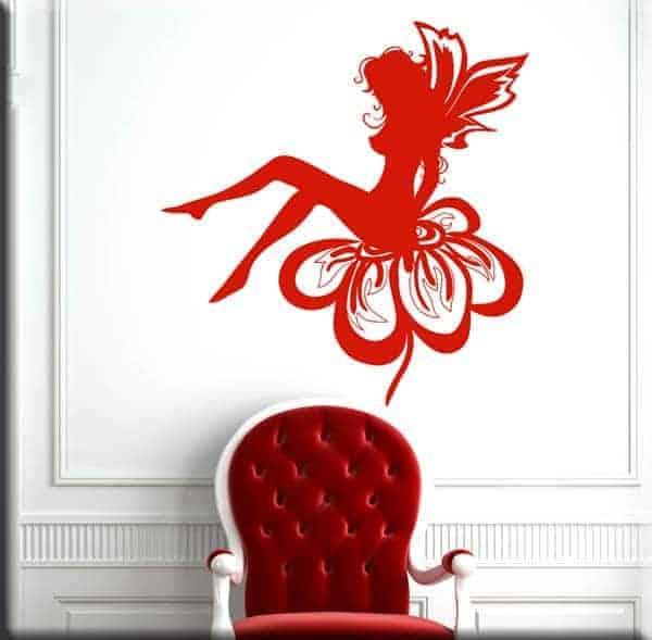 decorazione murale fata fantasy