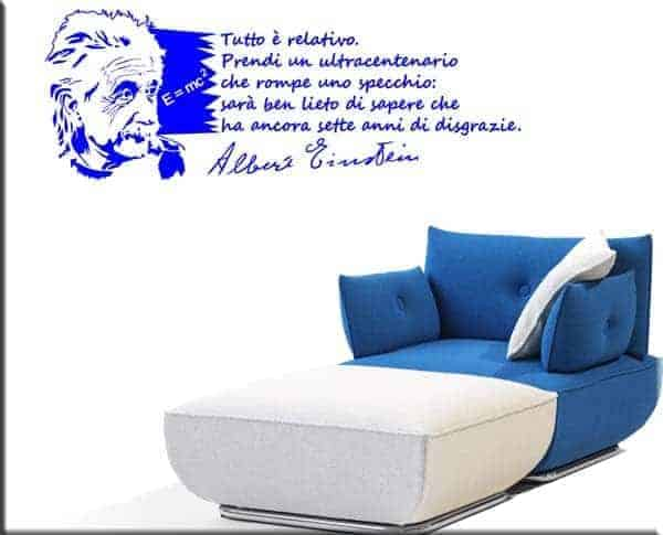 decorazione murale frase Albert Einstein