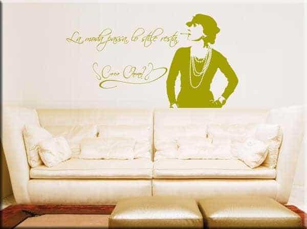 decorazione murale frase Coco Chanel