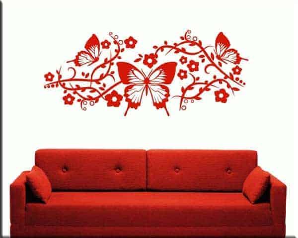 decorazioni adesive farfalle fiori