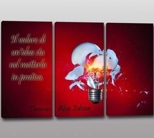 quadri moderni citazione Edison