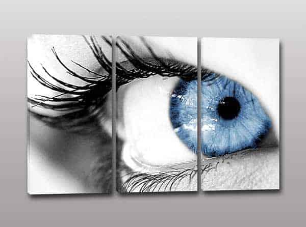 Quadri moderni occhio donna for Quadri moderni minimalisti