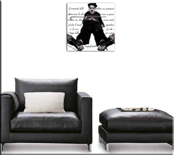 quadro decorazione moderna Charlie Chaplin