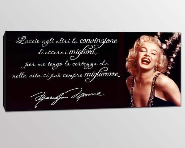 quadro frase Marilyn Monroe