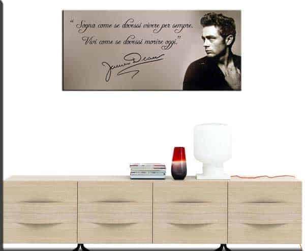 quadro moderno citazione James Dean