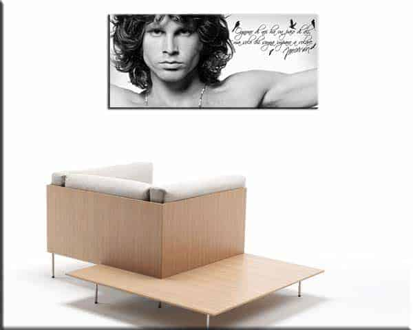 quadro moderno citazione Jim Morrison