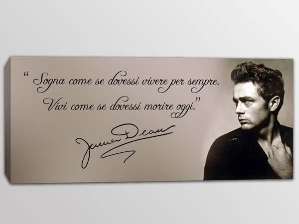 quadro moderno frase James Dean