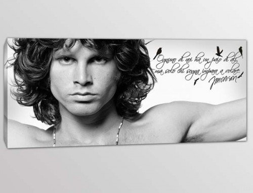 quadro moderno frase Jim Morrison