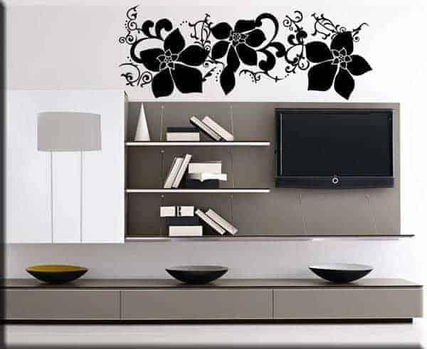 wall art adesivi murali arredi fiori