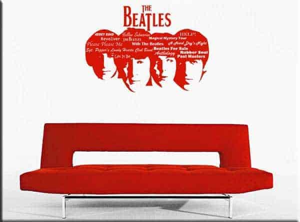wall sticker BEATLES