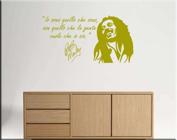 wall sticker Bob Marley frase
