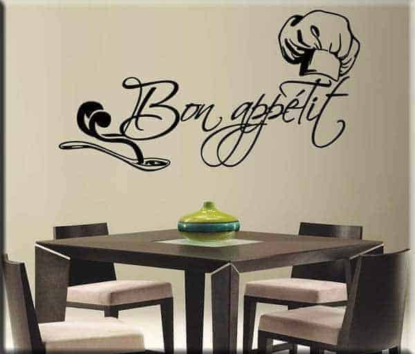 wall sticker bon appétit