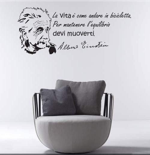 wall sticker frase Albert Einstein