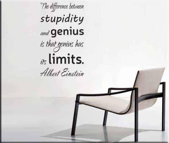 wall sticker frase Albert Einstein