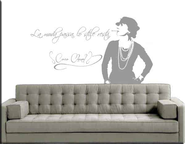 wall sticker frase Coco Chanel