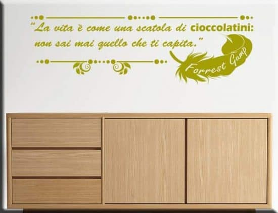 wall sticker frase Forrest Gump