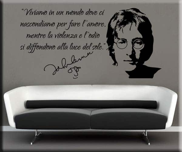 wall sticker frase John Lennon