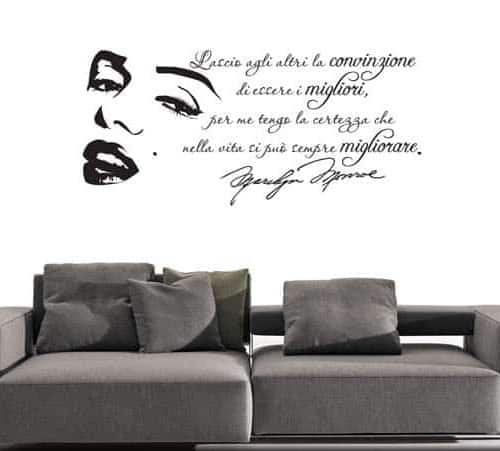 wall sticker frase Marilyn Monroe