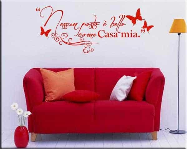 wall sticker frase casa mia