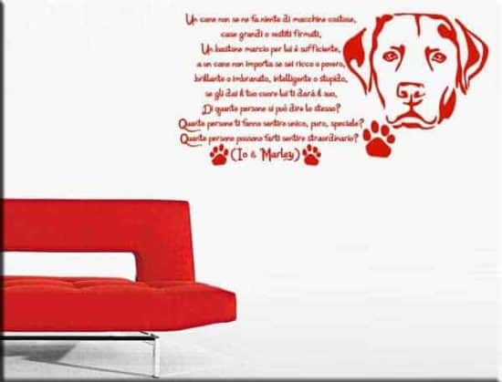 wall sticker frase io e Marley