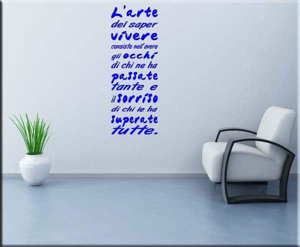 wall sticker frase l'arte del saper vivere