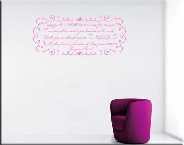 wall sticker poesia Jacques Prévert