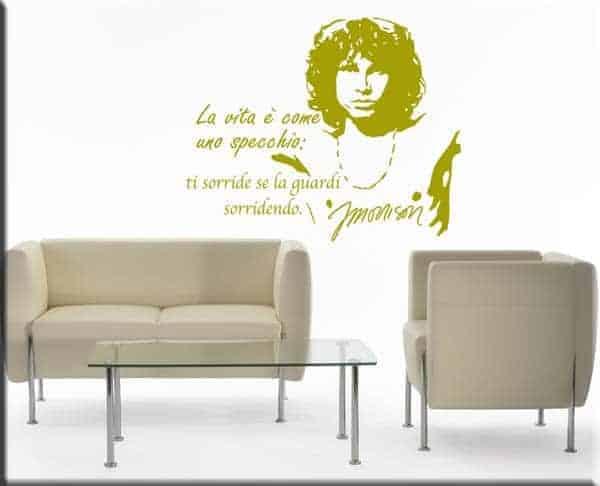 wall stickers adesivi murali adesivo murale frase Jim Morrison frasi the doors