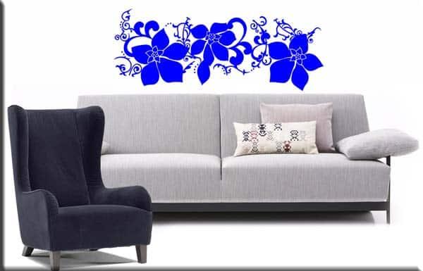 wall stickers adesivi murali fiori arredi