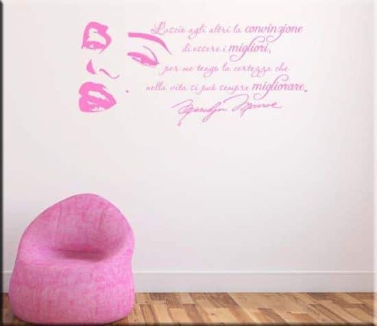 wall stickers adesivo murale frasi marilyn monroe
