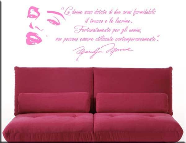 wall stickers adesivo murale frasi marilyn monroe rosa