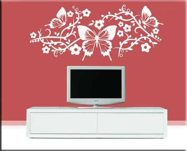 wall stickers farfalle fiori