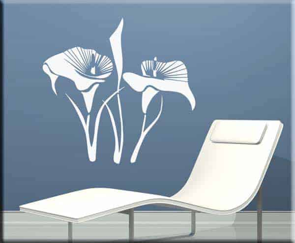 wall stickers fiori calle