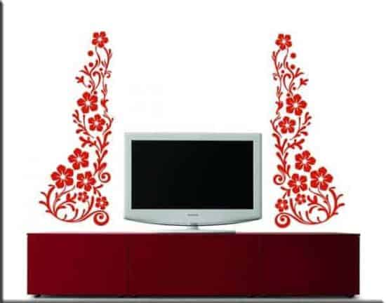 wall stickers fiori decorazioni ornamenti floreali