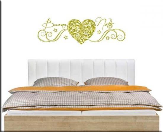 wall stickers letto buona notte