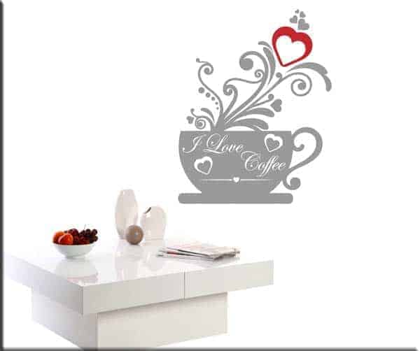 wall stickers love coffee bar