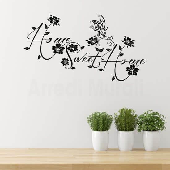 Adesivo da parete sweet home nero