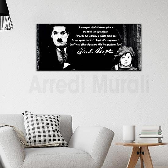 Quadro citazione Charlie Chaplin per arredare il tuo salotto