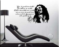 WALL STICKER FRASE BOB MARLEY