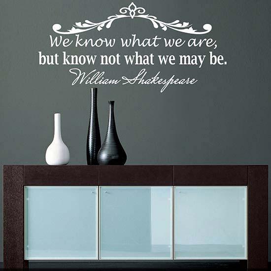 Wall sticker citazione William Shakespeare