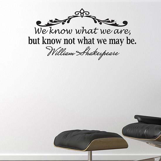 sticker citazione William Shakespeare