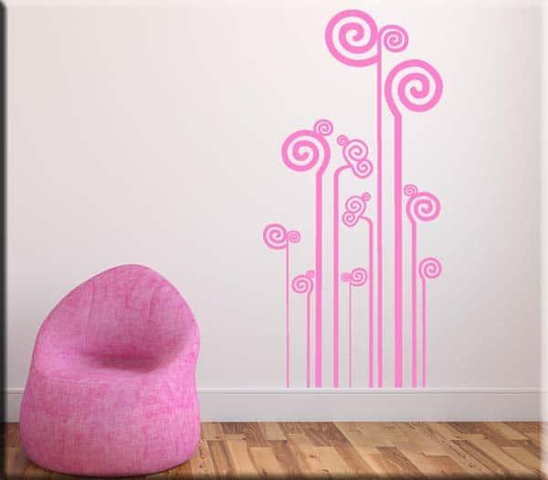 adesivi da muro decorazioni moderne stilizzate
