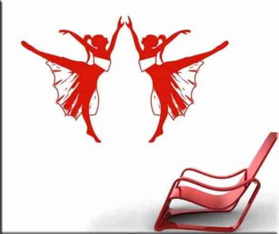 adesivi da parete ballerine danza