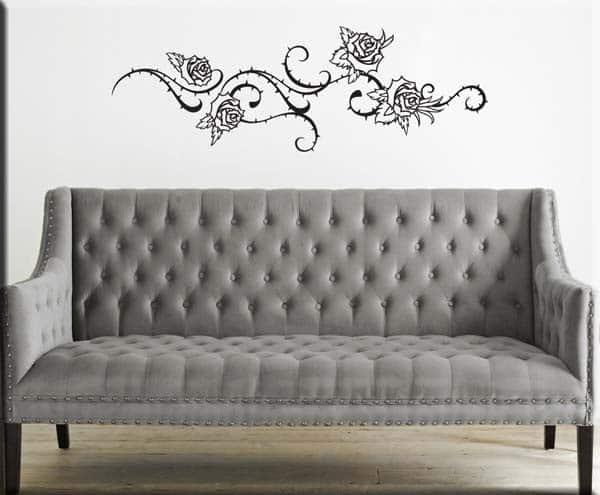 Adesivi murali rose fiori - Decorazioni da parete ...