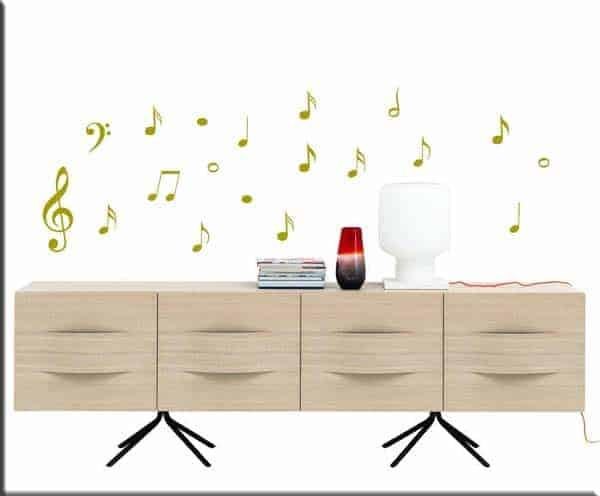 adesivi da parete note musicali