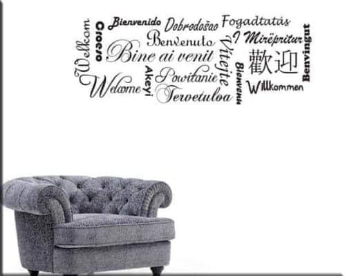 adesivi murali benvenuto welcome