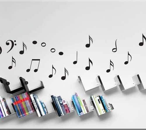adesivi murali note musicali