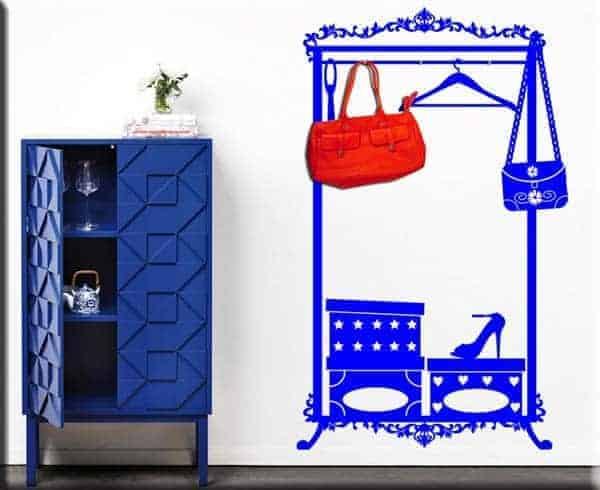adesivo da parete appendiabiti fashion