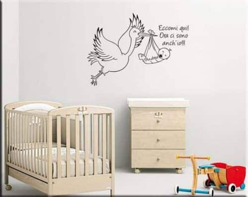 adesivo da parete bebè personalizzato