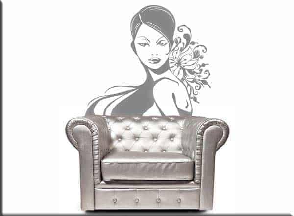 adesivo da parete bellezza donna